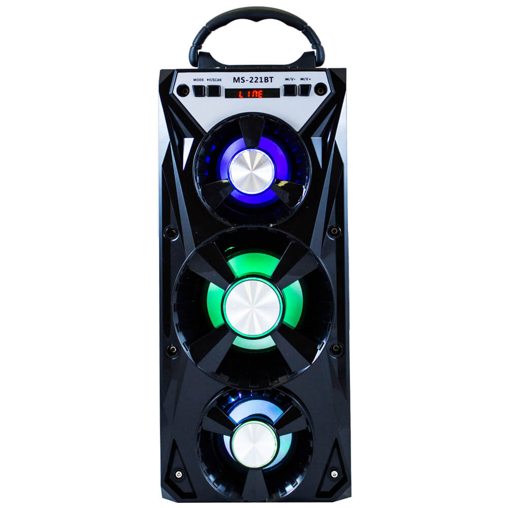 Portable Speaker High Power Bluetooth Wireless FM Radio TF Card Light for Partytime ws 980 car model style portable 2 channel rgb light speaker w fm tf black transparent