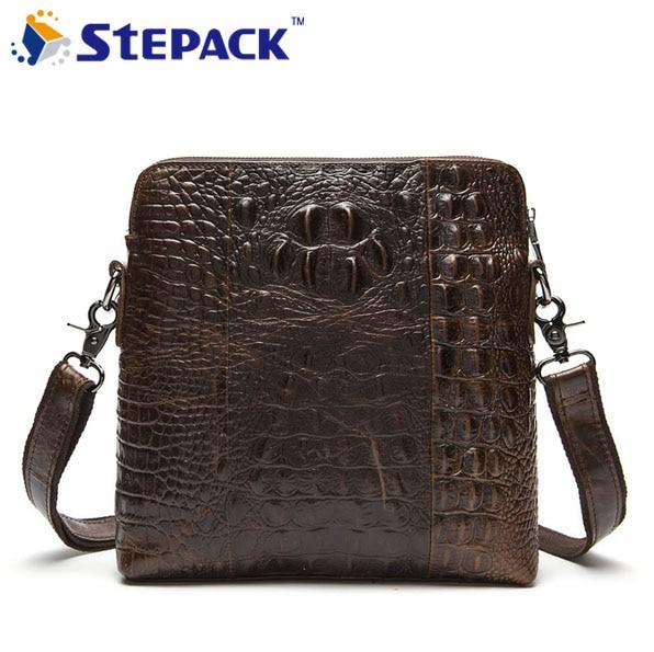 ФОТО Brand New Genuine Leather Men Bag Alligator Men Messenger Bag Luxury Most  Popular For Male Business Bag WMB0115