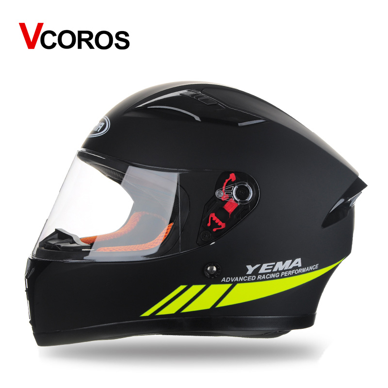 YEMA 832 full face motorcycle helmets street car personality cool full cover racing helmet M L XL size adult man woman helmets viva baby viva baby школьная блузка белая