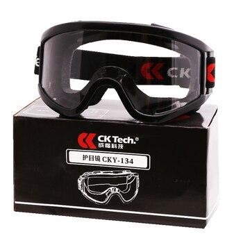 2990b51545 Gafas de seguridad Anti-choque Anti-splash polvo Industrial Protección  Laboral gafas al aire libre montando a prueba de viento anteojos tácticos