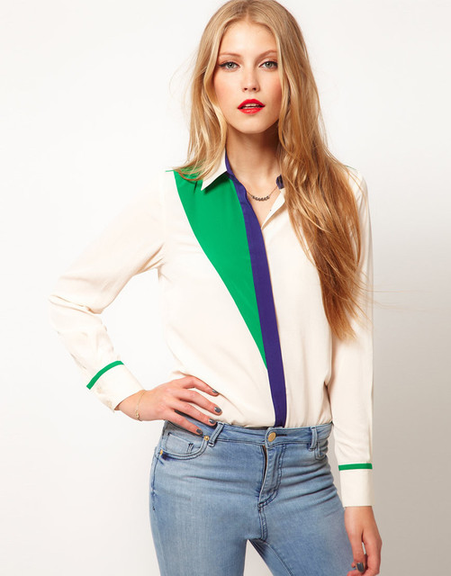 Ladies' fashion blouse Turn-down collar women's long sleeve autumn spring korean chiffon shirts free shipping