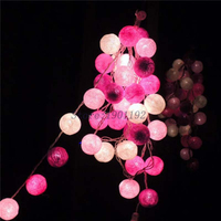 NEW 5M 35 LED Cotton Ball LED String Lighting Holiday Christmas Wedding Party Curtain Decoration Lights
