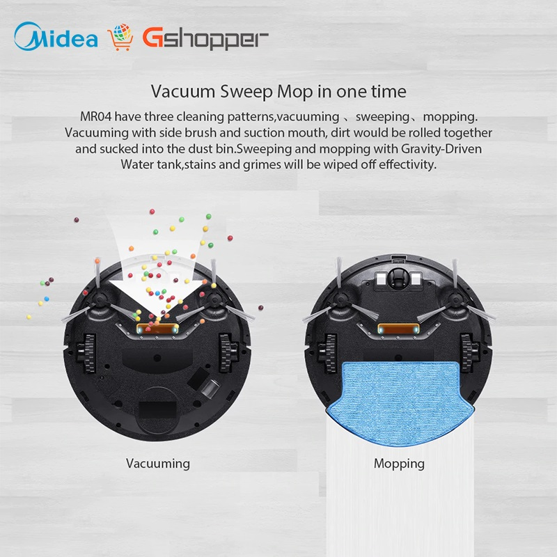 Global Version Smart Robot Vacuum Cleaner of Large capacity With Automatic Navigation and Powerful Suction 4