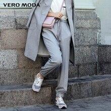 VERO MODA женские новые модные элегантные эластичные удобные твердых случайные свободные гарем брюки женские высокое качество брюки 315350003