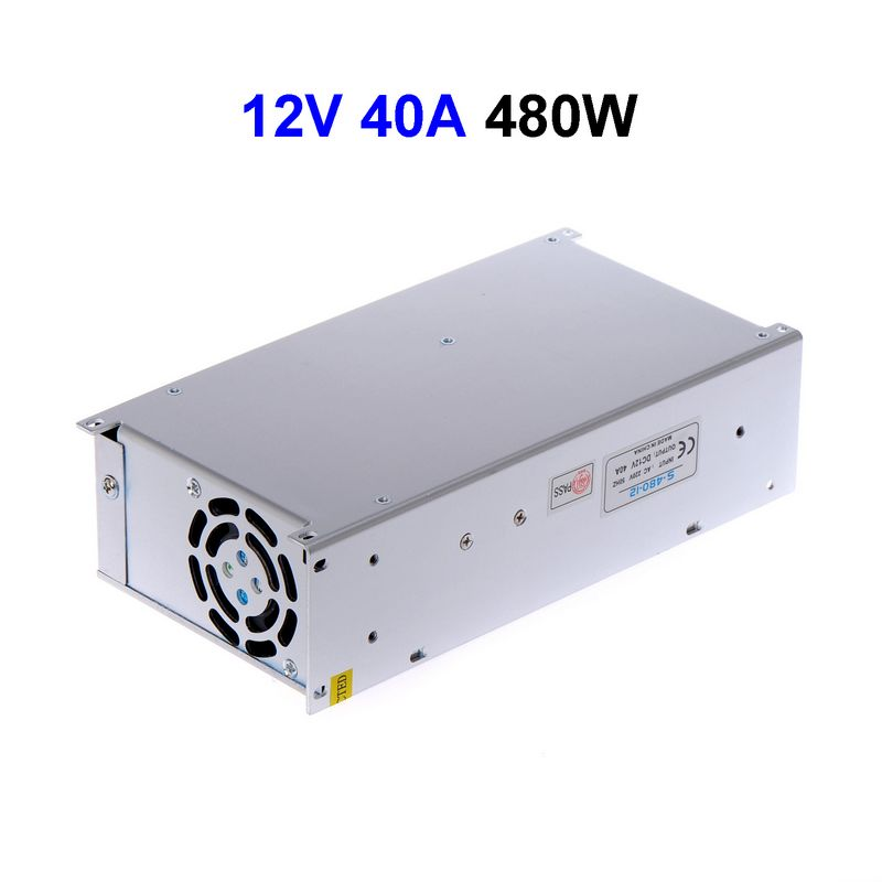 3pcs CCTV Cameras DC12V 40A 480W Switching Power Supply Adapter Driver Transformer For LED Strip Light