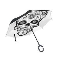 Susino Flower In Shantou Head New Reverse Umbrella For Car Women Men Double Layer Waterproof Windproof Stick Rain Umbrellas