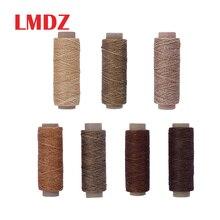 LMDZ плоский вощеный шнур Thread150D 50 м, шнур для шитья, ручной работы, портативный инструмент для рукоделия, изделия из кожи, вощеный шнур