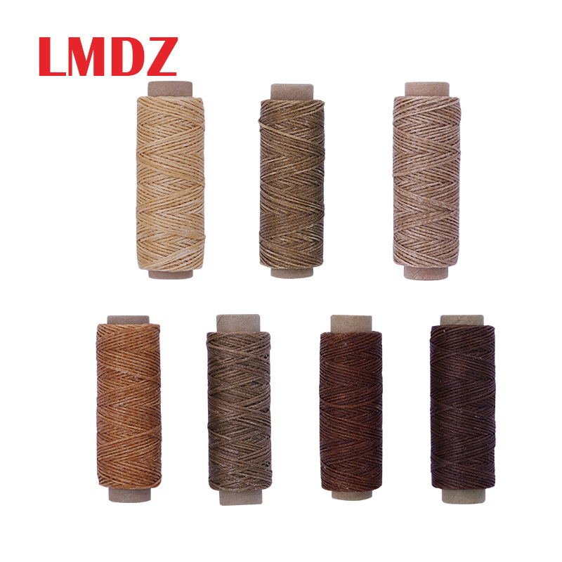 LMDZ Ciré Plat Thread150D 50 M Cire Cordon Couture Artisanat Outil Portatif pour artisanat bricolage En Cuir Produits Fil Ciré Cordon