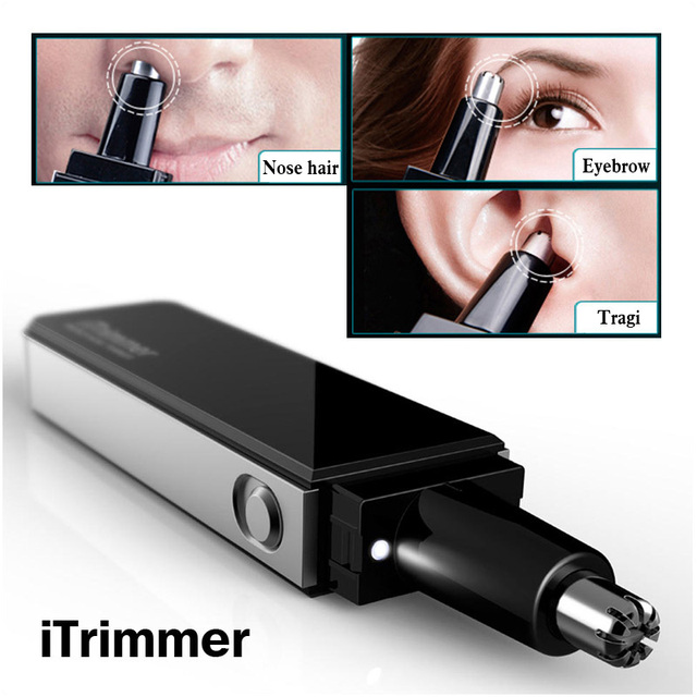 Pritech Professional Water Resistant Nose and Ear Hair Trimmer with LED Light Ultra Modern Design
