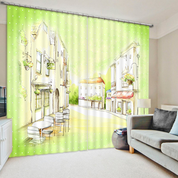 Photo Watercolour Blackout Window Curtain Any room Decoration Curtains Custom size