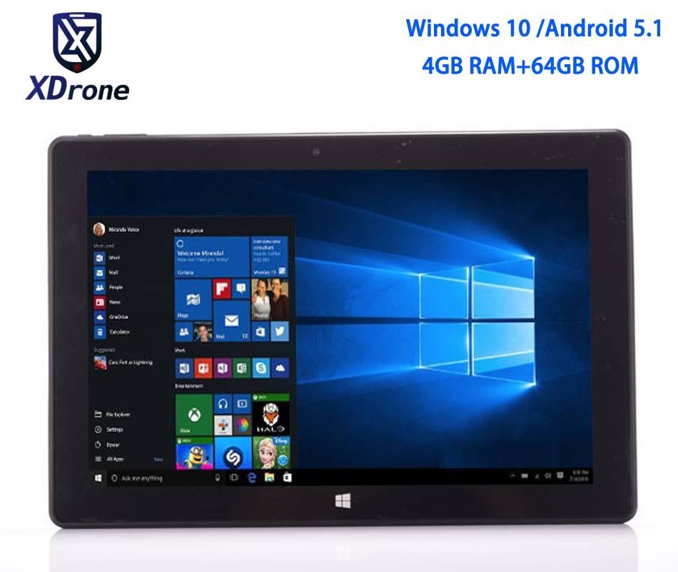 China Windows 10 Home Tablet PC 10.1 Dual OS Android Intel Quad Core Z8350 4GB RAM 64GB ROM 10.1