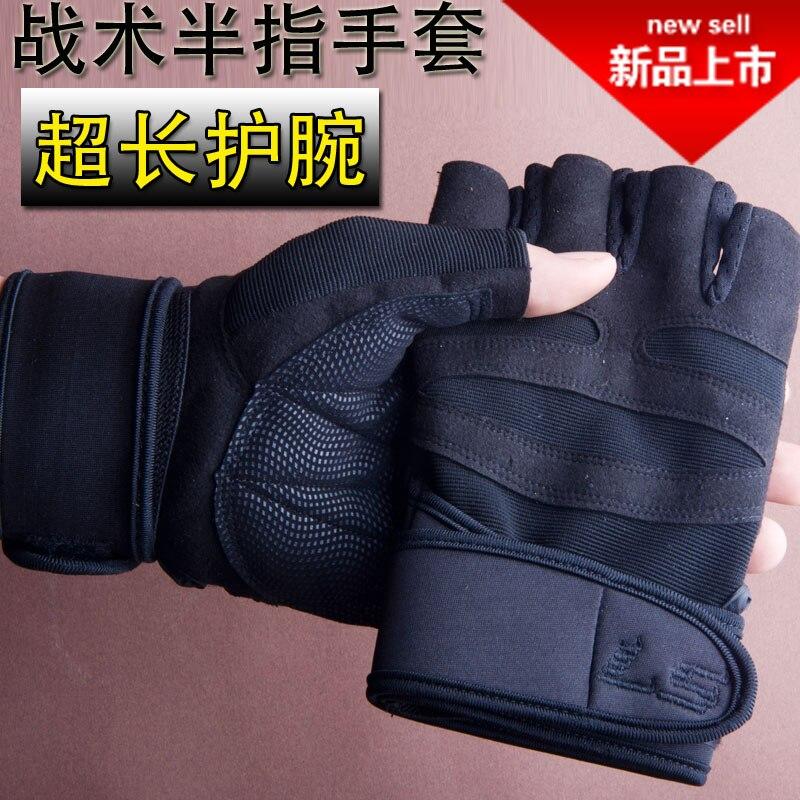 Mens fitness gloves breathable sports gloves female gym dumbbell training equipment Half Finger Bracers antislip pocket