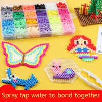 Mini 2 6 Hama Beads 80 Colors kits perler PUPUKOU Beads Tool and Pegboard  Education Toy Fuse Bead Jigsaw Puzzle 3D For Children