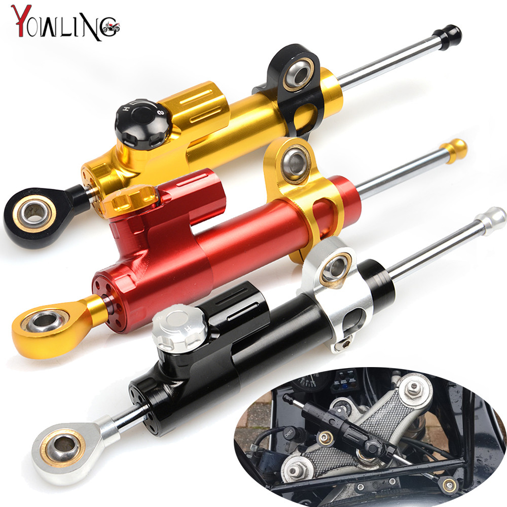 Motorcycle Accessories Damper Stabilizer Damper Steering For yamaha YZF R25 R15 R6 R125 kawasaki z750 Z800 FZ8 FZ1 FZ6R for kawasaki z750 z800 z 750 z 800 universal motorcycle accessories stabilizer damper steering mounting all year
