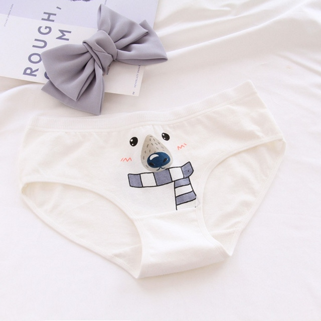 Polar bear pattern cartoon briefs lingerie
