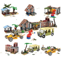 PUBG Classic Scenes Weapons Building Blocks Military Army WW2 Soldier Bricks Assembly Architecture Toys Gift