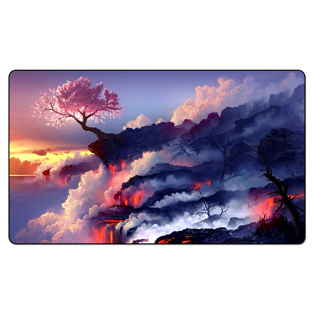 (Flower Blooms In Adversity) Magic Game Playmat,Board Games Game Board The Pad Play Mat,Custom MGT Table Pad with Free Bag