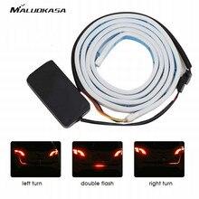 MALUOKASA 120 см Tri-Цвет автомобиля Светодиодные ленты свет лампы Атмосфера авто задний багажник декоративный свет автомобиль-Стайлинг отложным воротником индикатор сигнала