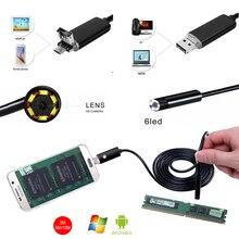 8mm HD 2m 5m 10m USB+Android Adapter 2 in 1 Endoscope Inspection Tube Mini Phone Endoscopio Camera OTG IP67 Waterproof Endoskop