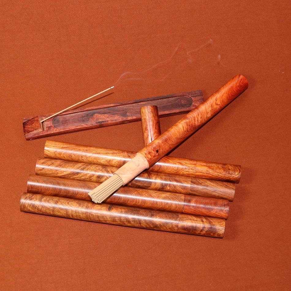 US $1 75 |Wholesale incense sticks storage tube wooden incenso barrel  African rosewood ebony with burner porta incenso holder oud sandal-in  Incense &