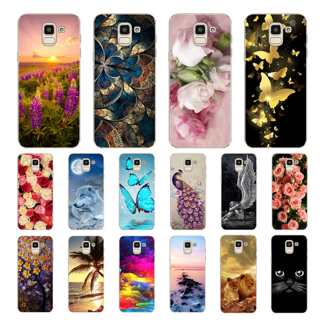sports shoes d2776 ca8c8 US $1.89 5% OFF|Geruide For Samsung Galaxy J4 2018 J6 2018 J8 Case Cover,  Printed Soft Cover Silicon For Samsung Galaxy J4 J6 J8 2018 case-in Phone  ...