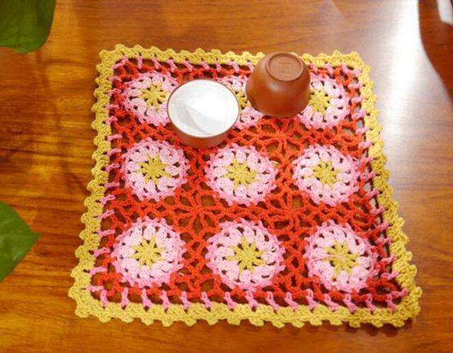 Modern Lace Handmade Cotton Placemat Cup Coaster Mug Holder Kitchen