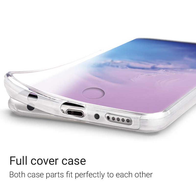 360 غطاء كامل واقية الهاتف حقيبة لهاتف سامسونج غالاكسي A10 A20 A30 A40 M10 M20 S10 S8 s9 plus J4 J6 A5 A7 A8 TPU PC الغطاء الخلفي