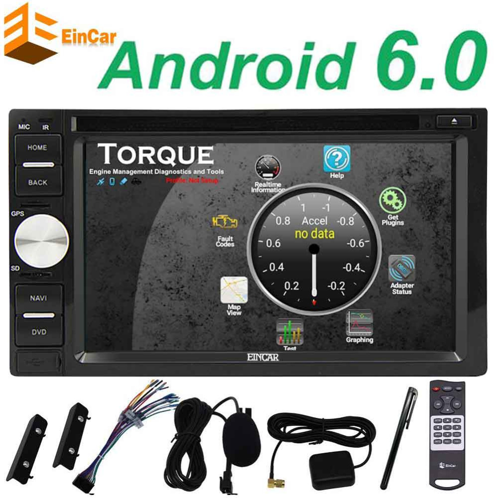 WIFI Android 6 0 2din Car dvd Player Stereo GPS Navigation for Universal car Touchscreen Support