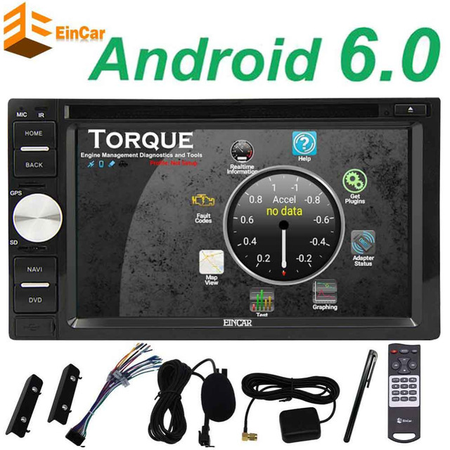 WIFI Android 6.0 2din Car dvd Player Stereo GPS Navigation for Universal car Touchscreen Support USB/SD FM AM Autoradio+Free Map