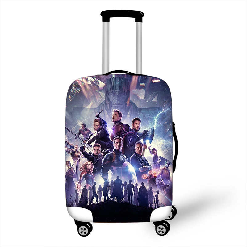18''-32'' Iron Man Thor Travel Suitcase Protective Cover Luggage Case Travel Accessories Elastic Luggage Dust Cover Suitcase