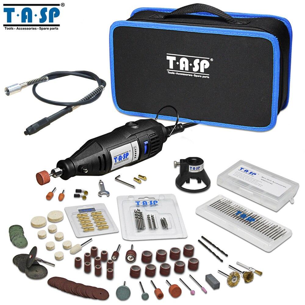 TASP 220 v 130 w Velocidade Variável Elétrica Conjunto de Mini Broca Ferramenta Rotary com Acessórios Acessórios Gravador De Energia e De Armazenamento saco