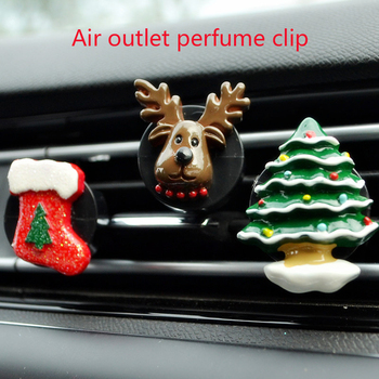 Christmas Car Air Freshener Decoration Perfume Clip For Mitsubishi Lancer 10 ASX Pajero X Ford Focus 2 3 Fiesta Citroen C4 C5 C3 image