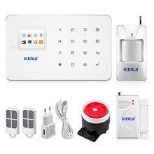 Kerui G18 Android iOS App contrôle sans fil système de sécurité gsm système d'alarme sans fil magnétique fenêtre capteur motion détecteur