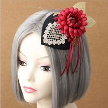 British Lady Retro Fashion Small Top Hat Bride Dinner Headwear Hairpins Etiquette Hair Accessories