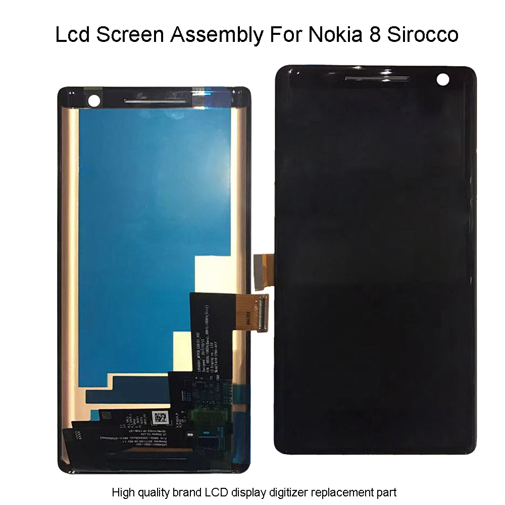 Quality Lcd For Nokia 8 Sirocco LCD Display Touch Screen Digitizer Assembly For Nokia 8 Sirocco 8Sirocco lcd screen replacement