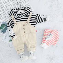 2020 Autumn Children Clothing Sets Baby Boys Girls Clothes Toddler Suits Infant Hooded T Shirt Strap Pants Kids Leisure Costume ideacherry children clothing sets hooded toddler leisure coats sweatshirt leggings suit for girls clothes pants sports suits