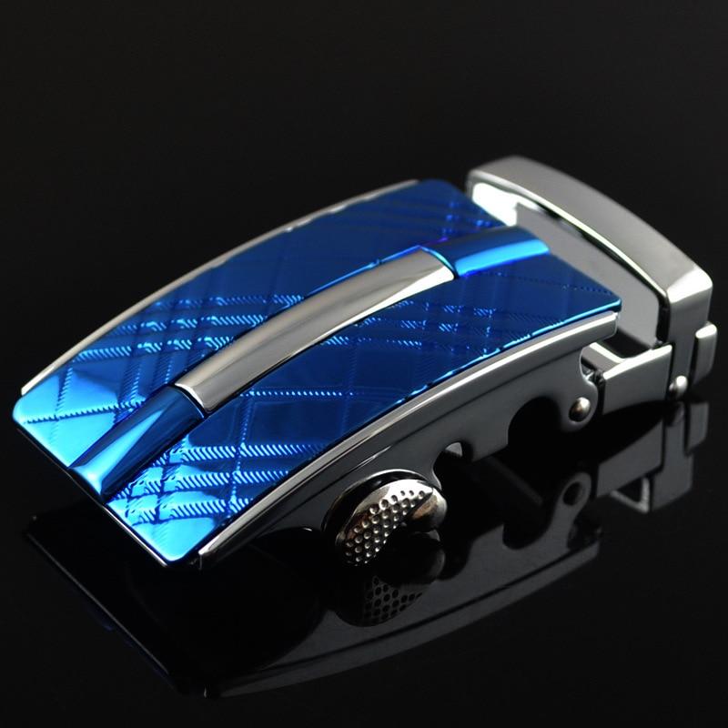 3.5cm Width Automatic Belts Buckle Male Genuine Leather Belt Men Luxury Belt Buckle Blue CE25-0217