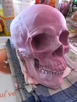 New Arrival Silicone Mould Halloween Decoration 1 1 Skull Craft Mold Fondant Cake Chocolate Mold Diy