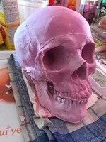 Nouvelle arrivée silicone moule Halloween Décoration 1:1 crâne artisanat moule fondant gâteau au chocolat moule diy tête crâne ustensiles de cuisson