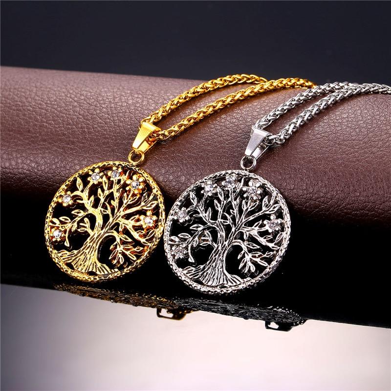 Starlord Tree Of Life Necklace & varëse 316L Stainless Steel / Gold - Bizhuteri të modës - Foto 4