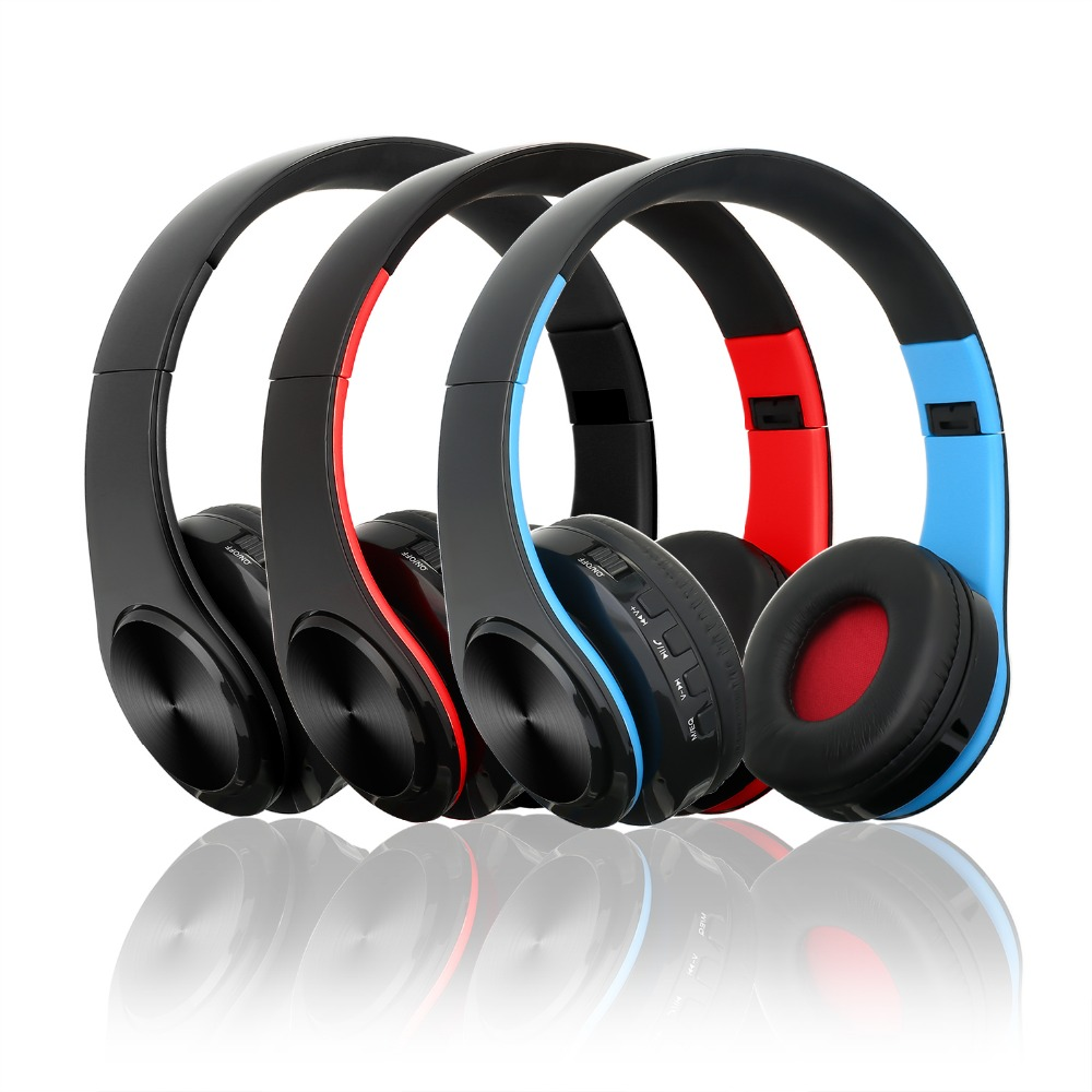 NEW Wireless Bluetooth Headphone Stereo FM TF 3.5 mm Bluetooth Headset With Microphone Also MP3 Player For All Phones Computers ks 509 mp3 player stereo headset headphones w tf card slot fm black