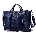 Women European and American Fashion Crocodile Pattern Leather Handbags Multifunctional Shoulder Messenger Bags