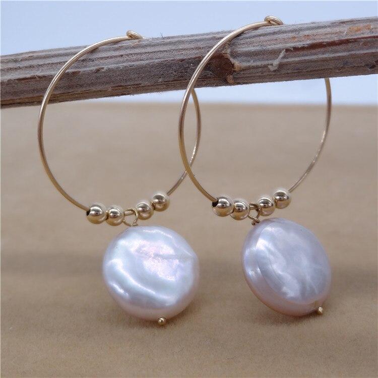 Eternal parola Regalo di cerimonia nuziale Delle Donne 925 Sterling Silver reale La perla naturale orecchini a forma di piatto grande Perla Viola grande orecchio - 5
