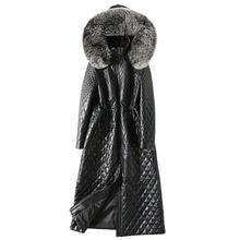 Genuine Leather Jacket Women Sheepskin Coat Fox Fur Hooded Winter Coat Women Clothes 2018 Korean Slim Duck Down Plus Size ZT843