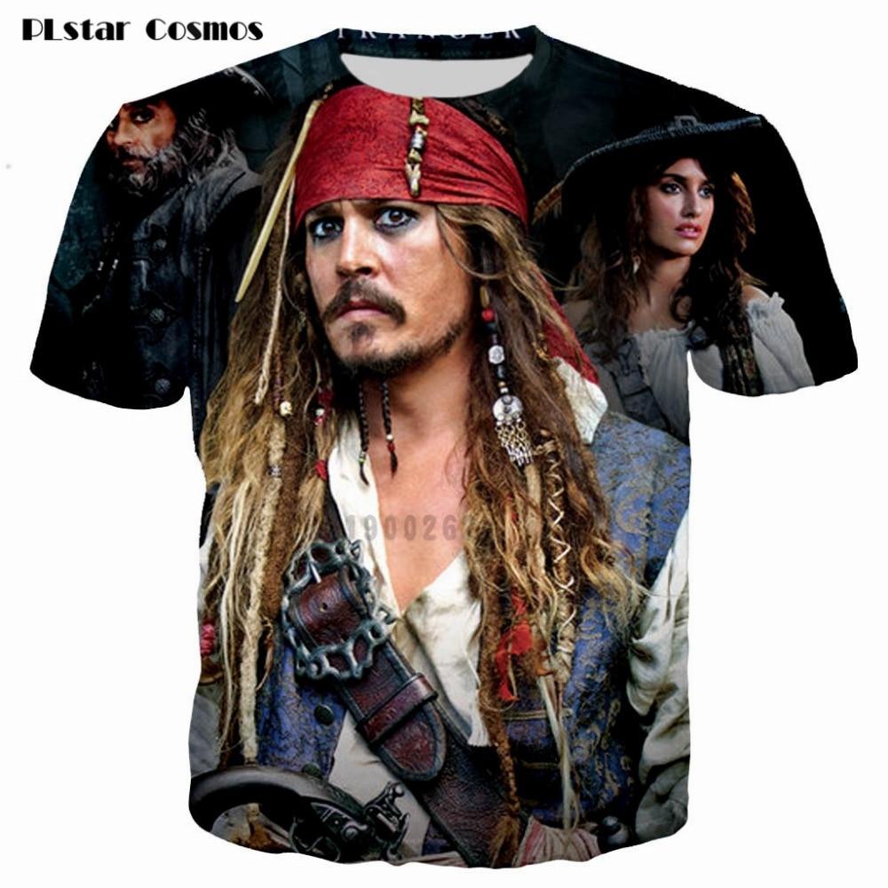 PLstar Cosmos brand men t shirt 3D printing Pirates of the Caribbean 3d t shirt short sleeve casual tshirt man tees tops