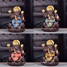 Ceramic Buddha Statue Elephant God Sculptures Ganesha Figurines  Home Garden Decoration Statues