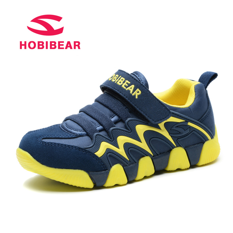 HOBIBEAR Genuine Leather Students School Kids Sport Shoes Children Sneakers  Breathable New Outdoor Boys Sneaker For Girls Shoes-in Sneakers from Mother  ... a33613a217fe