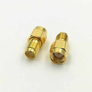 Image 2 - 1000ピース真鍮ゴールドメッキsmaメスジャックへのrp sma雄プラグストレートrf同軸同軸アダプタコネクタ