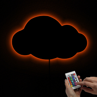 1Piece Moody Hanging Cloud Light LED Lighting Art Decorative Cloud Night Light Personalized Cloud Mirror With Glowing LED