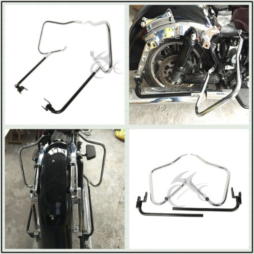 Saddlebag Bracket Guard Bar Set For Harley Touring Road King Electra Glide Ultra 14-18 zury ultra twin 10 12 14 16 18 100